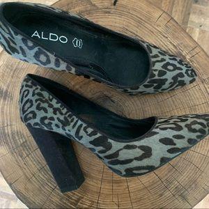 ALDO / Textured / Animal Print / Block / Heels